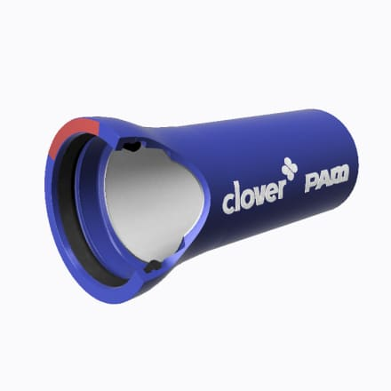 Zinalium ductile iron pipe with the clover and PAM logo